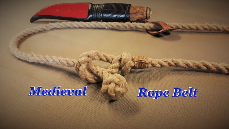Medieval rope belt