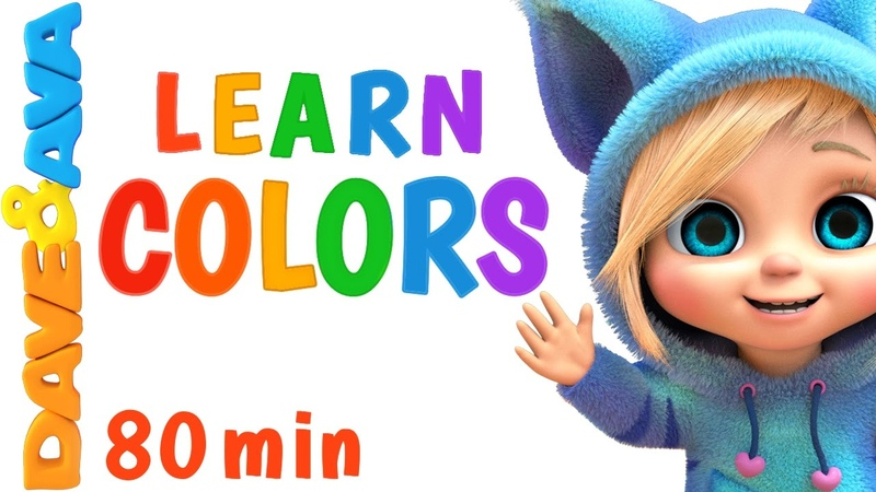 Learn Colors for Сhildren 🌈 Colors Song Number Song Counting Songs Learning Video Dave and Ava