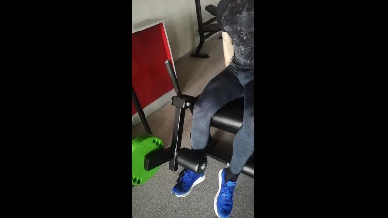 27 03 20 Эксцентрические разгибания 1 ногой 30 кг х 8 к