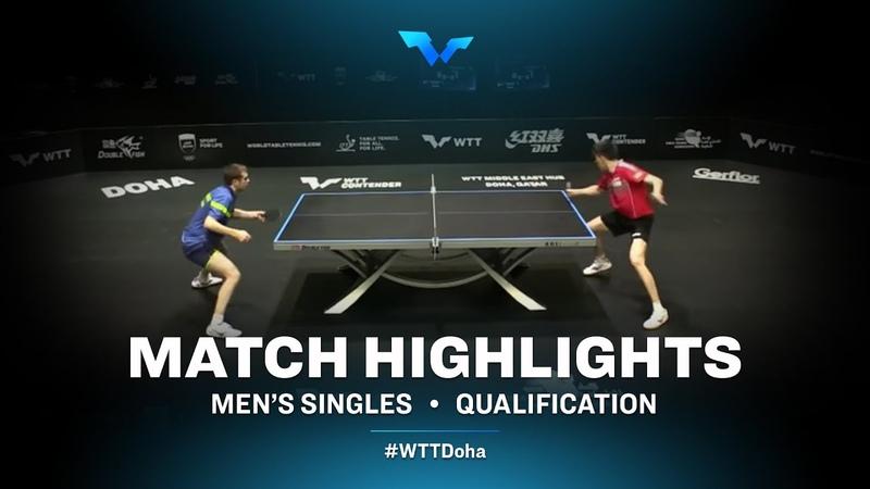 Vladimir Sidorenko vs Andreas Levenko   WTT Contender Doha 2021   Mens Singles   QUAL Highlights